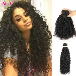 wholesale brazilian virgin hair NZ - ALOT Brazilian Virgin Hair Bulk Kinky Curly Hair bundles Human Hair 3 Bundles 100% Unprocessed Natural Color 8-28 inch Hot Selling