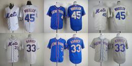 06f125d3d ... New York Mets Mens Jerseys 33 Matt Harvey 45 Zack Wheeler Baseball  Jersey Stitched 100% ...