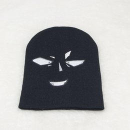 $enCountryForm.capitalKeyWord Canada - Children all-match caps knitted hat funny pure wool hat street style warm parent-child a cute couple exclusive Halloween hat head eye caps