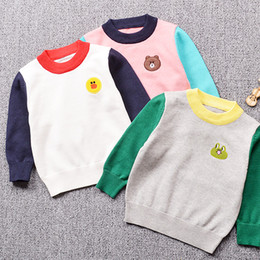 $enCountryForm.capitalKeyWord Canada - Children Cotton Long-Sleeve Unisex Sweater Knit Soft Kid's Carton Embroidery Girls Tops Blouses Cute Pattern Boys Sweater 2-6T