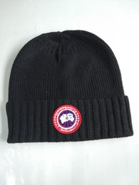Camping hiking hats online shopping - Newest Winter unisex brand Canada CA men fashion knitted hat classical sports skull caps Female casual outdoor Women beanies