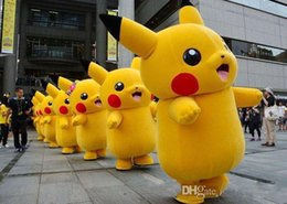 Barato Traje De Filme Adulto-Tamanho adulto Pikachu traje de mascote personagem de filme de carnaval personagem Clássico cartoon Adult Character Fancy Dress