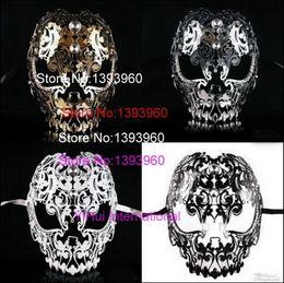 Filigree masquerade masks online shopping - Filigree Devil mask Skull Venetian Masquerade Gold Mardi Gras Costume mascaras halloween mask laser cut metal carnival mask