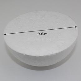Discount styrofoam crafts - Wholesale-Free shiping wholesale 14.5cm natural white styrofoam half ball Craft ball foam ball diy handmade painted ball