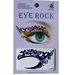 temporary eye shadow tattoos UK - free shipping 12pieces eye shadow tattoo sticker eye rock 4 design mix waterproof eye tattoo Transfer Temporary tatoo
