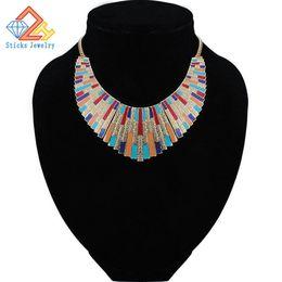 Maxi Collar Collares 2017 Vintage Collares Declaración Colgantes para Las Mujeres Bijoux Moda Esmalte Gargantilla Collier Kolye Joyería