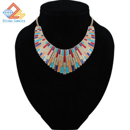 Chinese  Maxi Necklace Collares 2017 Vintage Statement Necklaces & Pendants for Women Bijoux Fashion Enamel Choker Collier Kolye Jewelry manufacturers