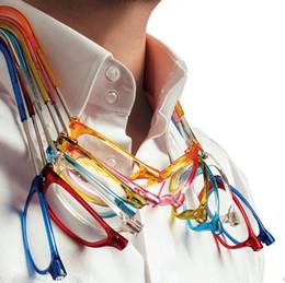 Hanging Eyeglasses Canada - Magnetic Reading Glasses Men Women Magnets Front Connect Adjustable Hanging Neck Unisex presbyopic Eyeglasses gift 7 Color Choose