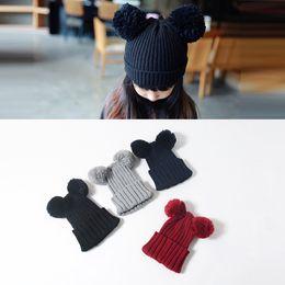 $enCountryForm.capitalKeyWord Canada - Baby Hats Wholesales Unisex Wool Crochet Beanie Hat 6 Colours Cute Knitting Baby Winter Cap 17082401