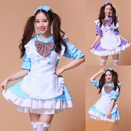 Princess Cartoon Sexy Pas Cher-Belle Anime Role-playing Cartoon Akihabara Lolita Princesse Sexy Cosplay Costume Japon Maison Maid Uniforme Femmes Dress