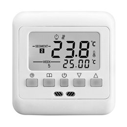 China New Digital Thermostat Weekly Programmable 16A Floor Heating Thermostat Room Temperature Controller Thermometer cheap programmable thermostat heating suppliers