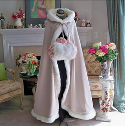 $enCountryForm.capitalKeyWord Australia - Customise Latest Hooded With Faux Fur Trim Short For Bride Winter Wedding Cloak Cape 2017 Hot Selling