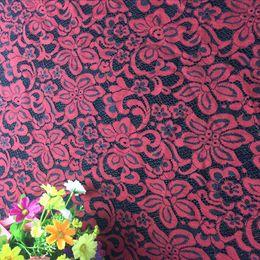 $enCountryForm.capitalKeyWord Canada - New Eyelash Corded Lace Fabric High Quality French Nylon Cotton Knitted Bridal Lace Fabric with Eyelash lace 150CM