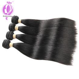 $enCountryForm.capitalKeyWord NZ - Brazilian Virgin Hair 4 Bundles Straight Weave 100% Unprocessed Human Hair Extensions Natural Color 100g pc Total:400g