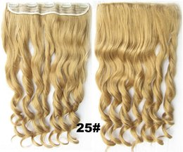 """$enCountryForm.capitalKeyWord Australia - no lace Daily wigs Cosplay Hair Peruca Pelucas 24"""" 60cm 120g Long Wavy Clip in Hair Extensions Women Synthetic hairpiece 6 colors Mega Hair"""
