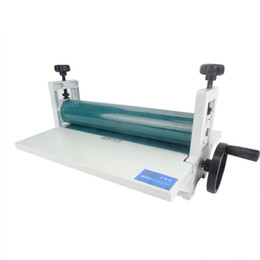Cold rolling online shopping - NEW quot mm Manual Laminating Machine Photo Vinyl Protect Rubber Cold Laminator pc Cold Roll Laminator