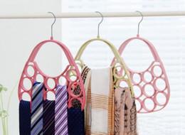 $enCountryForm.capitalKeyWord NZ - Bag Shape Velvet Hanger for Scarf Ties Belts Jewelry Accessories Hats Colorful Flocking Hangers Home Office Shop Storage Racks
