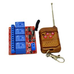 $enCountryForm.capitalKeyWord UK - Wholesale- 4CH 24V DC RF Wireless Universal Remote Control 433mhz Learning Receiver Module For Light and Garage Door