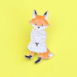 wholesale fox brooch Canada - Timlee X297 Cartoon Cute Cats Rabbits Foxes Metal Brooch Pins,Fashion Jewelry Wholesale