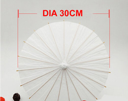 f42951776e Wedding Plain White Parasol Umbrella Paper   Bamboo Umbrella for DIY  Painting