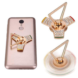 mixed spinner 2018 - 360 Fidget Spinner Finger Ring Holder Universal Mobile Phone Ring Magnetic Stand For iPhone Sumsung All Handset cheap mi