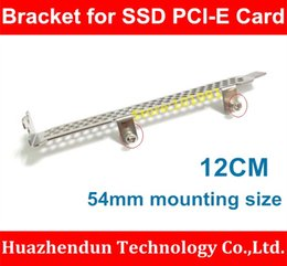$enCountryForm.capitalKeyWord Canada - Wholesale- New Arrivals 1PCS-12CM Profile Bracket for SSD PCI-E Card 54MM Mounting Size Standard SSD PCI-E Card Bracket with Screws