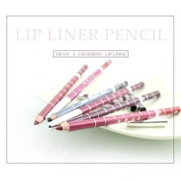 Professional Eye Pencils Canada - Wholesale- 12Colors Lip Liner Pencil Women's Professional Makeup Lipliner Waterproof Party Queen Eyebrow Eye Lip Makeup Colorful