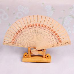 Holzventilatoren 8 '' Chinese Sandelholz Fans Hochzeit Fans Werbung Braut Accessoires