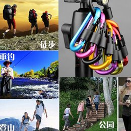 $enCountryForm.capitalKeyWord NZ - Free Shipping Outdoor Sports Equipment D ring carabiner camp keychain Aluminium locking Carabiner Hook Backpacking Buckle