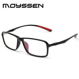 22c91dce58 Wholesale- Moyssen New arrival Men s Business Ultra-light TR90 Flexible Big  Square Frame Eyeglasses Myopia Prescription Glasses Frames