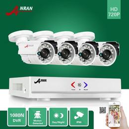ANRAN Vigilancia HDMI 4CH AHD 1080N DVR HD Día Noche 1800TVL 24IR Cámara impermeable al aire libre CCTV Sistemas de seguridad para el hogar en venta