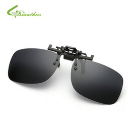 Night Vision Eyeglasses Canada - Wholesale- New Unisex Polarized Sunglasses Clip on Aviate Drive Sun Glasses Spectacles UV400 Goggles Eyeglasses Yellow Night Vision Glasses