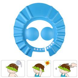 Hair Visor Caps Canada - Adjustable Baby Shampoo Hat Toddler Kids Shampoo Bathing Shower Cap Wash Hair Shield Direct Visor Caps For Children Baby Care