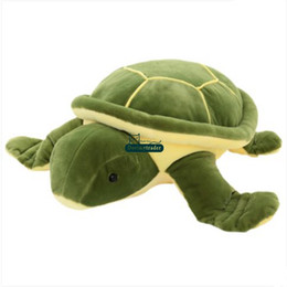 Stuffed Plush Turtle UK - Dorimytrader Hot Large Animal Tortoise Plush Toy Soft Stuffed Green Turtle Doll Pillow Anime Cushion Gift for Baby DY61454