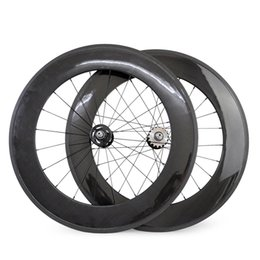 gear fix Australia - New Arrival 23mm Width 88mm Front 88mm Rear Fixed Gear Track Bike Carbon Bicycle Clincher Tubular