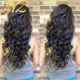 Dark black hair color online shopping - Popular Big Body Wave Human Hair Wigs Bleached Knots Full Lace Wigs Brazilian Malaysian Medium Size Swiss Lace Cap Lace Front Wigs