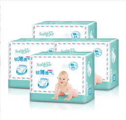 $enCountryForm.capitalKeyWord Australia - Lowest Price 2019 Factory sale Wholesale Baby Diapers Economy Pack Three-demensional leakproof locks in urine Cotton-thin Size M W17JS485