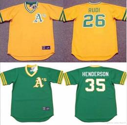 e44ffbbd0 ... Mens Womens Youth Oakland Athletics 9 REGGIE JACKSON 26 JOE RUDI 35 RICKEY  HENDERSON Throwback Baseball ...
