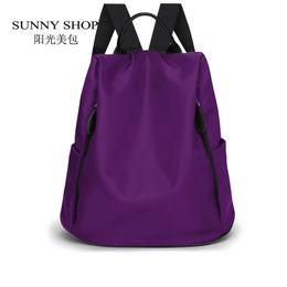 Wholesale- SUNNY SHOP 2017 New Waterproof OXFord Backpack Fashion Designer  Women Backpack Girls Bag School Bag 7727749ff6675