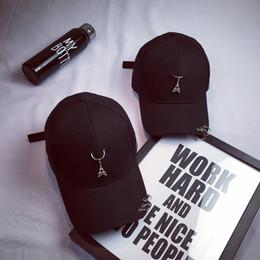 $enCountryForm.capitalKeyWord Canada - Hot Sale Hiphop Rivet Black Baseball Hats For Men Women Paris 3 Rings Snapback Baseball Cap Flat Sun Hat Sports Lovers Shade Hats
