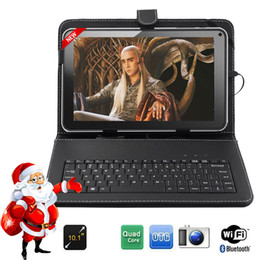 "Quad Android Tablet Australia - Wholesale- FreeShipping BoDa 16GB 10.1 ""inch Android 4.4 Wifi Quad core Allwinner A33 Tablet PC Keyboard Free as gift"