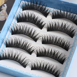 $enCountryForm.capitalKeyWord Canada - 5 Pairs Fashion Handmade Natural Fake Eye Lashes Makeup Thick False Eyelashes Makeup Tools
