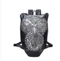 $enCountryForm.capitalKeyWord NZ - Fashion Women Backpack Style 2017 Newest Stylish Cool Black PU Leather Owl Backpack Female Hot Sale Women Bag In Stock Fast Shipping