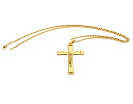 $enCountryForm.capitalKeyWord Canada - New Style Jesus Cross High-quality Thick Gold Plated Mens Jewelry Crucifix Christian Jewelry Necklaces & Pendant For Gifts