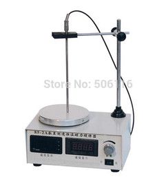 Heating plates online shopping - Free ship new Magnetic Stirrer heating plate hotplate mixer display speed temp V