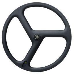 $enCountryForm.capitalKeyWord UK - Free shipping Full Carbon Wheels 3 Spokes Clincher carbon Wheelset tri-spoke carbon wheels Track Triathlon Time Trial Road Bike Wheels