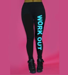 Pantalons Ajustés Pantalons Femme Pas Cher-Hot Fashion Winter Confortable Femmes Workout Fit Pants Tight Fitting Work Out Just Do It Print Leggings en coton en vrac Taille unique