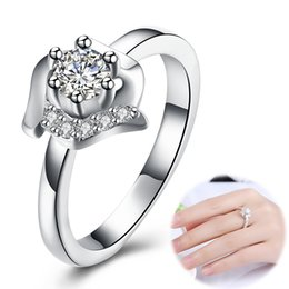 $enCountryForm.capitalKeyWord UK - Size 8 Luxury Jewelry Big Stone Silver filled Simulated Diamond Zircon Wedding Engagement Band Ring Lovers Valentine's Day Present Gifts