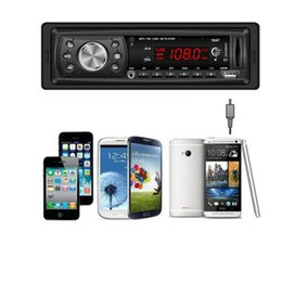 stereo head units 2019 - Wholesale- NEW Mecall In Dash Car Audio Bluetooth Stereo Head Unit MP3 USB SD MMC wholesale Oct21 cheap stereo head unit
