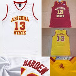 72627cd1d ... NBA White Cheap Mens Arizona State Sun Devils College Jersey 13 James  Harden Jersey Red White Yellow Stiched ...